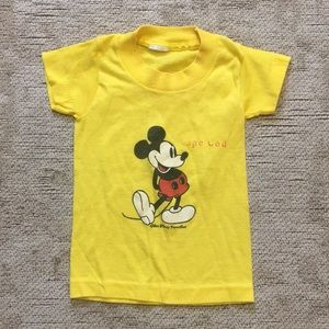 Super thin vintage Mickey Mouse top for baby